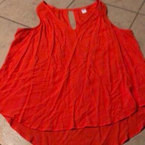Old navy coral v neck sleeveless blouse
